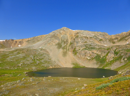 Blue Lake (12,435') in the Mount Massive Wilderness Area