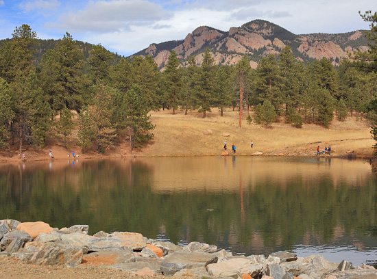 The Davis Ponds are stocked with cutthroat and rainbow trout